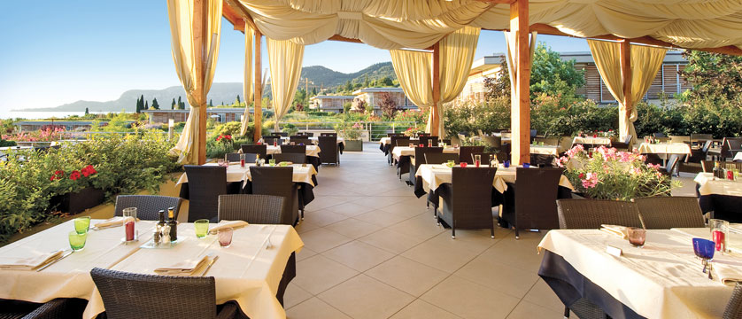 Hotel Germano, Bardolino, Lake Garda, Italy - Panoramic terrace restaurant.jpg